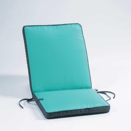 Coussin de fauteuil 90 x 42 x 5 cm polyester bicolore oasis Aqua/Anthracite