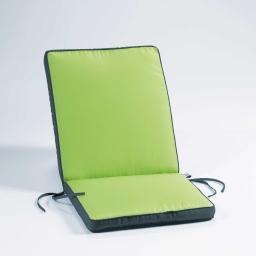 Coussin de fauteuil 90 x 42 x 5 cm polyester bicolore oasis Menthe/Anthracite