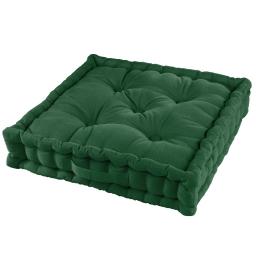 Coussin de sol 45 x 45 x 10 cm coton uni pacifique Vert