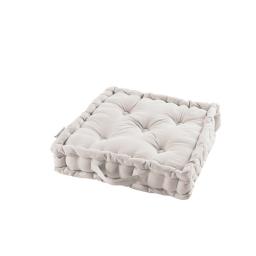 Coussin de sol 45 x 45 x 10 cm coton uni panama Blanc