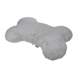 coussin dehoussable os polaire 75*55cm collection velours gris/noir