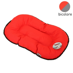 coussin flocon 107cm bicolore rouge/gris