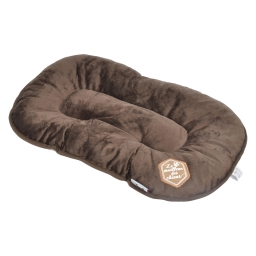 coussin flocon 107cm collection patchy chocolat/taupe