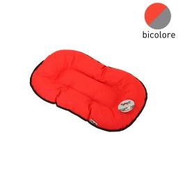 coussin flocon 45cm bicolore rouge/gris