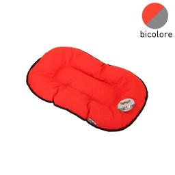 coussin flocon 53cm bicolore rouge/gris