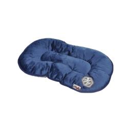 coussin flocon 53cm collection patchy bleu/gris