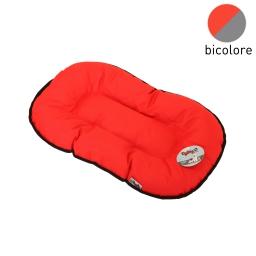 coussin flocon 69cm bicolore rouge/gris