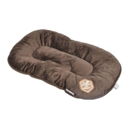 coussin flocon 87cm collection patchy chocolat/taupe