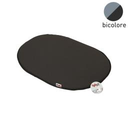 coussin galette 53cm bicolore noir/gris