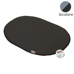 coussin galette 87cm bicolore noir/gris