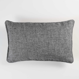 Coussin passepoil 30 x 50 cm chambray uni select Anthracite