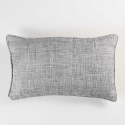 Coussin passepoil 30 x 50 cm chambray uni select Gris