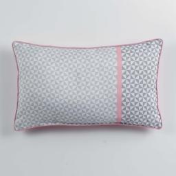 Coussin passepoil 30 x 50 cm polyester imprime matik  des. place Rose