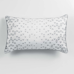 Coussin passepoil 30 x 50 cm polyester imprime valina  des. place Blanc