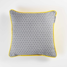 Coussin passepoil 40 x 40 cm coton imprime galactic Anthracite