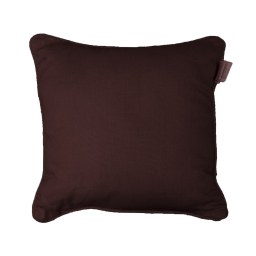 Coussin passepoil 40 x 40 cm coton uni panama Choco