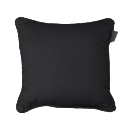 Coussin passepoil 40 x 40 cm coton uni panama Noir