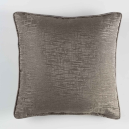 Coussin passepoil 40 x 40 cm jacquard riad Taupe