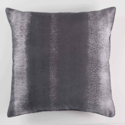 Coussin passepoil 40 x 40 cm polyester imprime arc en ciel Anthracite