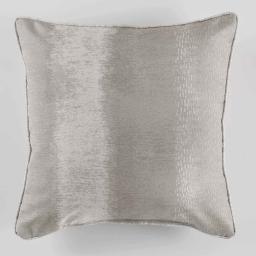 Coussin passepoil 40 x 40 cm polyester imprime arc en ciel Beige