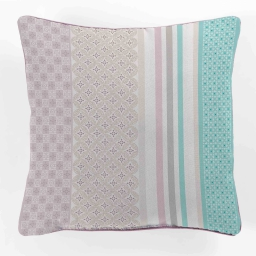 coussin passepoil 40 x 40 cm polyester imprime eliseo
