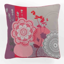 coussin passepoil 40 x 40 cm polyester imprime falco