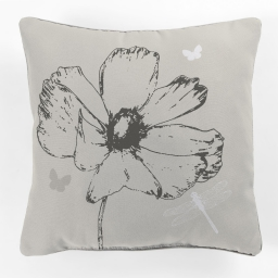 coussin passepoil 40 x 40 cm polyester imprime madina