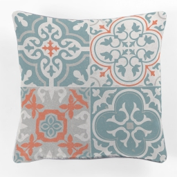coussin passepoil 40 x 40 cm polyester imprime maestria