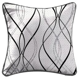 coussin passepoil 40 x 40 cm polyester imprime melino des. place