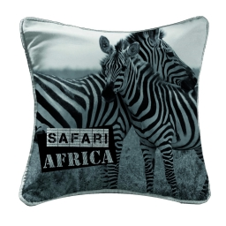 coussin passepoil 40 x 40 cm polyester imprime zamba des. place