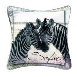 coussin passepoil 40 x 40 cm polyester imprime zebrine des. place