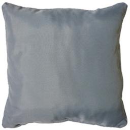 Coussin passepoil 40 x 40 cm polyester uni essentiel Gris