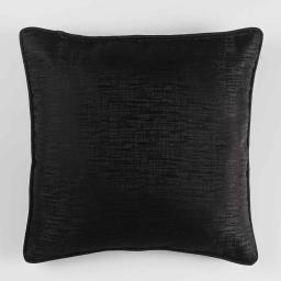 Coussin passepoil 60 x 60 cm jacquard riad Noir