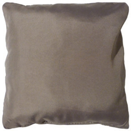 Coussin passepoil 60 x 60 cm polyester uni essentiel Taupe