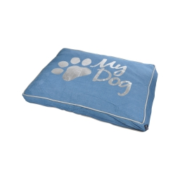 coussin rectangle 60*45*8cm collection my dog bleu dehoussable avec zip