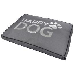 coussin rectangle 95*70*8cm collection happy dog gris dehoussable avec zip