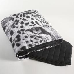 couvre lit mat. 220x240 microfibre imp. leopard des. place