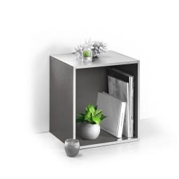 cube 1 niche panneau de particules l34,5*p29,5*h34,5cm argent