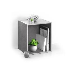 cube 1 niche panneau de particules l34.5*p29.5*h34.5cm beton ciré