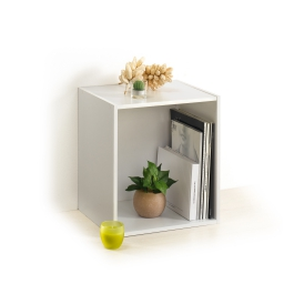 cube 1 niche panneau de particules l34,5*p29,5*h34,5cm blanc