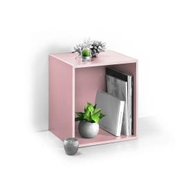 cube 1 niche panneau de particules l34,5*p29,5*h34,5cm rose poudré