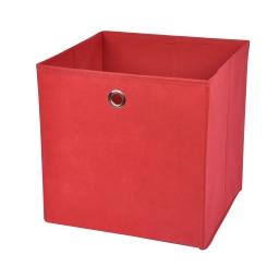 cube de rangement intissé l31*p29*h31cm rouge