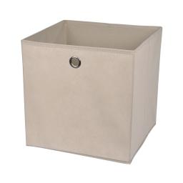 cube de rangement intissé l31*p29*h31cm taupe