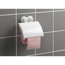 derouleur papier toilette a ventouses fortes plastique