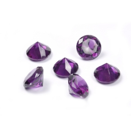 diamants acryliques decoratifs prune 100grs - ø2.8cm