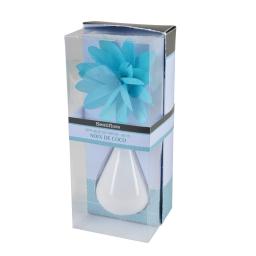 diffuseur en verre blanc et fleur 80ml - parfum coco