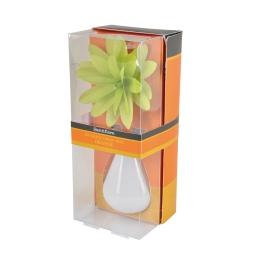 diffuseur en verre blanc et fleur 80ml - parfum orange