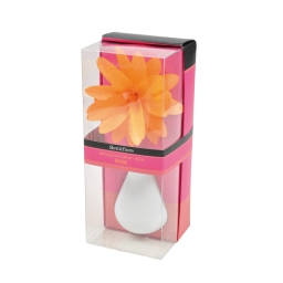 diffuseur en verre blanc et fleur 80ml - parfum rose