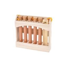 display 5 tubes de 20 encens japonais cedre - avec porte encens en bambou
