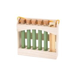 display 5 tubes de 20 encens japonais eucalyptus + porte encens en bambou